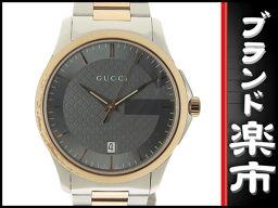 ☆ B music center head office ☆ authentic Gucci GUCCI G Timeless men's quartz 126.4 [pre]