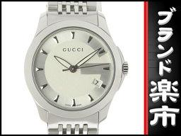 ☆ B music center head office ☆ authentic Gucci GUCCI G timeless ladies' quartz 126.5 [pre] [美 品]