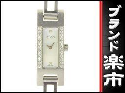 ☆ B music center net shop ☆ real authentic Gucci GUCCI ladies quartz wristwatch 3900L shell dial bezel diamond 【clock】 [pre-owned]
