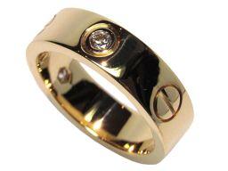Cartier カルティエ ラブリングハーフダイヤ ゴールド K18YG(750) イエローゴールド 【新品同様】