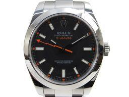 ROLEX ロレックス ミルガウス  腕時計  ウォッチ 116400 ブラック×シルバー ステンレススチール(S