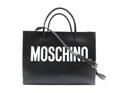 MOSCHINO モスキーノ トートバッグ 2WAYバッグ ブラック レザー 【中古】【ランクA】 レディース