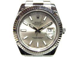 ROLEX ロレックス デイトジャスト2 腕時計 ウォッチ 116334 シルバー ステンレススチール(SS) 【