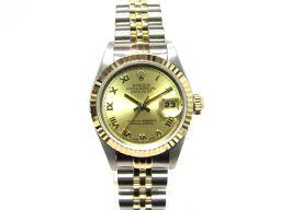 ROLEX ロレックス デイトジャスト  腕時計  ウォッチ 69173 ゴールド×シルバー×クリアー K18Y