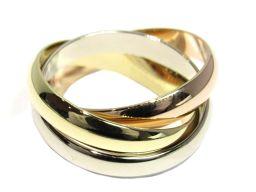 Cartier カルティエ トリニティリング  指輪 ゴールド×ホワイト×ピンク K18YG(750) イエロー