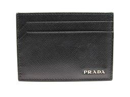 PRADA プラダ カードケース  名紙入れ 2MC149 ネロ レザー 【中古】【ランクA】 メンズ/レディース