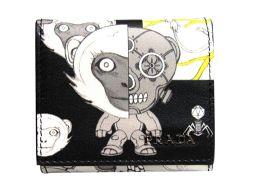 PRADA プラダ プリント コインケース 小銭入れ 2MM935 ブラック×ホワイト レザー 【新品同様】 メン