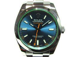 ROLEX ロレックス ミルガウス 腕時計 ウォッチ 116400GV ブルー×シルバー ステンレススチール(SS
