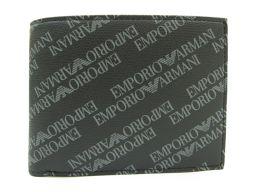 EMPORIO ARMANI エンポリオアルマーニ 二つ折り財布 Y4R165 YLO7E 86526 ブラック