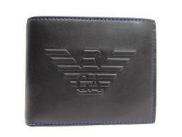 EMPORIO ARMANI エンポリオアルマーニ 二つ折り財布 Y4R165 YG90J 81072 ブラック