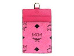 MCM エムシーエム カードケース ピンク レザー 【中古】【ランクB】 レディース