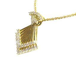 WALTHAM ウォルサム ダイヤモンド ネックレス クリアー K18YG(750) イエローゴールド x2.27