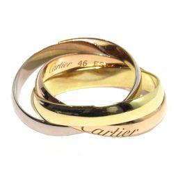 Cartier カルティエ トリニティリング 指輪 B4086100 イエロー×ピンク×ホワイト K18YG(75