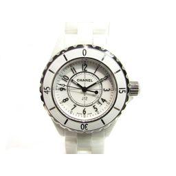 CHANEL シャネル J12 腕時計 ウォッチ H0968 ホワイト ステンレススチール(SS) セラミック 【