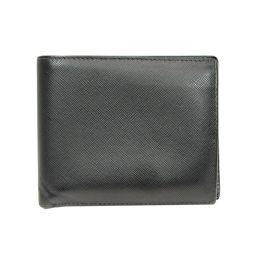 PRADA プラダ 二つ折財布 ブラック サフィアーノ 【中古】【ランクB】 メンズ