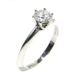 TIFFANY&CO ティファニー ダイヤモンド リング 指輪 クリアーxシルバー PT950 プラチナ xダイヤ