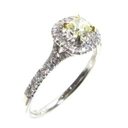 TIFFANY&CO ティファニー イエローダイヤモンド ソリティアリング 指輪 イエローxシルバー PT950