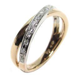 4℃ ヨンドシー ダイヤモンド リング 指輪 クリアーxピンクゴールドxシルバー K18PG(750) ピンクゴー