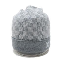 LOUIS VUITTON ルイヴィトン ボネ・プティ ダミエ ニット帽 M70606 グレー ウール(99%)x