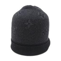 LOUIS VUITTON ルイヴィトン ボネ・モノグラム・エクリプス ニット帽 M70727 ブラックxダークグ