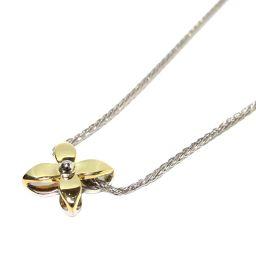 NINA RICCI ニナ・リッチ ダイヤモンド ネックレス シルバーxゴールド PT900 プラチナ xK18Y