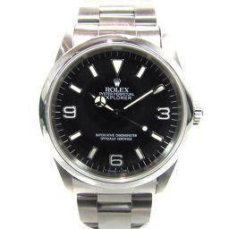 ROLEX ロレックス エクスプローラー1 腕時計 ウォッチ 14270 シルバーxブラック ステンレススチール(