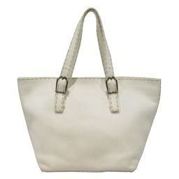 FENDI Fendi Tote Bag White Leather [Pre] [Rank B] ​​Women
