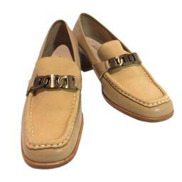 Salvatore Ferragamo サルヴァトーレ・フェラガモ 靴 パンプス ベージュ レザー 【中古】【ラン