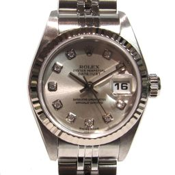 ROLEX ロレックス 10Pダイヤモンド デイトジャスト 腕時計 ウォッチ 79174G シルバー K18WG(