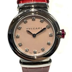 BVLGARI Bulgari Le Chair 12P Diamond Watch Watch LU28S Red x Silver x Pink Stainless