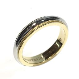 TIFFANY&CO ティファニー ミルグレインバンドリング 指輪 リング シルバー×ゴールド K18YG(750