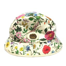GUCCI hat hat ivory x multicolor canvas [used] [rank A] ladies