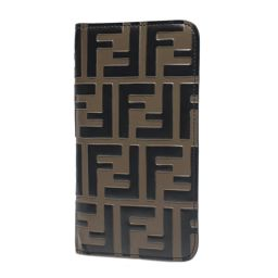 FENDI Fendi iphoneX Case iPhone Case Khaki x Brown [Used] [Rank A] Ladies