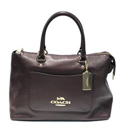 COACH Coach 2way shoulder bag F31467 Brown Leather [Used] [Rank A] Ladies