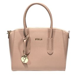 FURLA Furura Handbag Pink Leather [Used] [Rank A] Ladies
