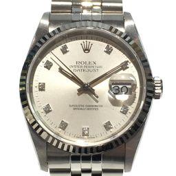 ROLEX ロレックス デイトジャスト 10Pダイヤ 腕時計 ウォッチ 16234G シルバー ステンレススチール