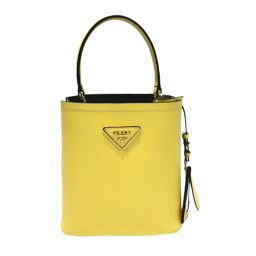 PRADA Prada 2WAY shoulder bag 1BA217 yellow leather [like new] ladies