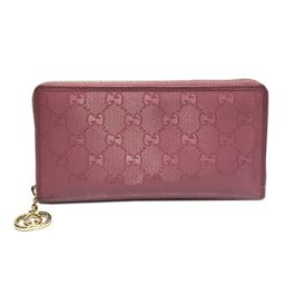 GUCCI Gucci Round Zipper Wallet 307982 Pink GG Impime [Used] [Rank B] ​​Lady