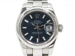 ROLEX ロレックス デイトジャスト 腕時計 ウォッチ 179160 ブルー ステンレススチール(SS) 【中古