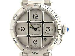 Cartier カルティエ パシャ グリット ウォッチ 腕時計 メンズ アイボリー ステンレススチール(SS) 【