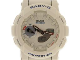 CASIO カシオ Baby-G 腕時計 ウォッチ BGA185TR7ADR ホワイト ステンレススチール(SS)