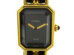 CHANEL シャネル プルミエールL ウォッチ 腕時計 レディース H0001 ブラック GP(ゴールドメッキ)