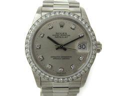 ROLEX ロレックス デイトジャスト 10Pダイヤ/ベゼルダイヤ 腕時計 ウォッチ 68286G シルバー PT