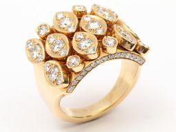 Cartier カルティエ ディアディア ダイヤモンド リング 指輪 クリアー K18YG(750) イエローゴー