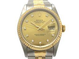 ROLEX ロレックス デイトジャスト 10Pダイヤモンド メンズ ウォッチ 腕時計 16233G  ゴールド K