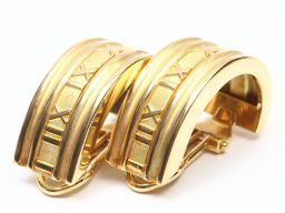 TIFFANY & CO Tiffany atlas earrings gold K18YG (750) yellow gold [pre]
