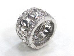 Cartier カルティエ ダイヤモンド リング 指輪 クリアー K18WG(750) ホワイトゴールド x ダイ
