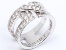 CHAUMET ショーメ リアンダイヤモンド リング 指輪 クリアー K18WG(750) ホワイトゴールド x