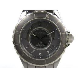 CHANEL シャネル J12 クロマティック ウォッチ 腕時計 メンズ H2979 グレー チタン x セラミッ
