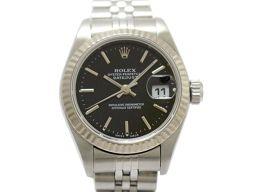 ROLEX ロレックス デイトジャスト レディース ウォッチ 腕時計 79174  ブラック K18WG(750)